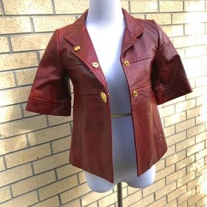 Badgley Mischka leather jacket size 0